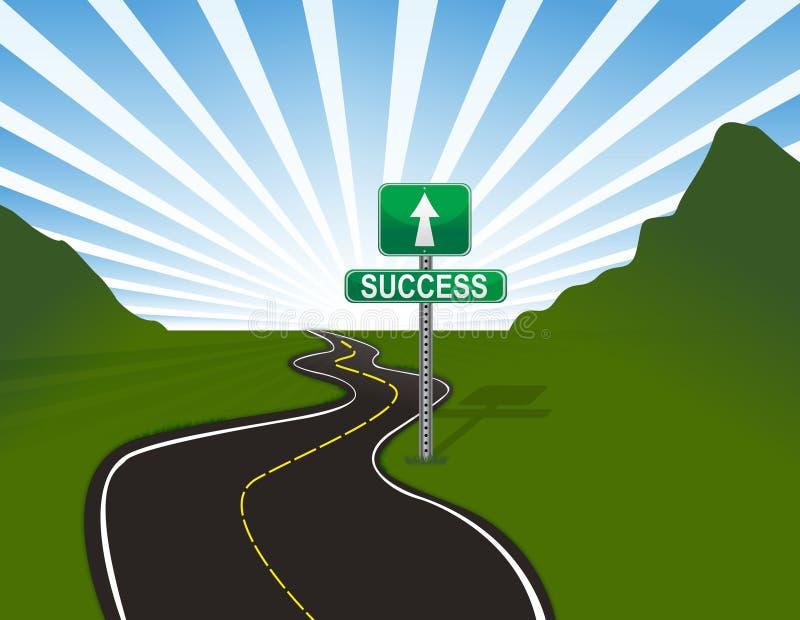Route à la réussite illustration de vecteur