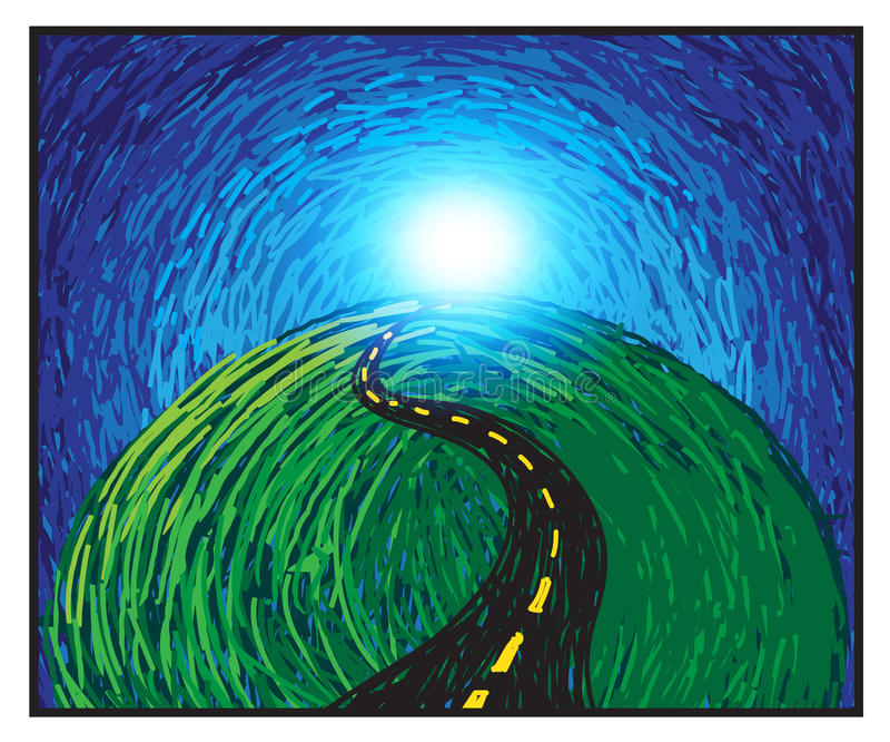 Route à la réussite illustration libre de droits