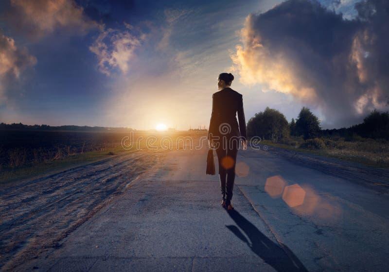 Route à la réussite images libres de droits