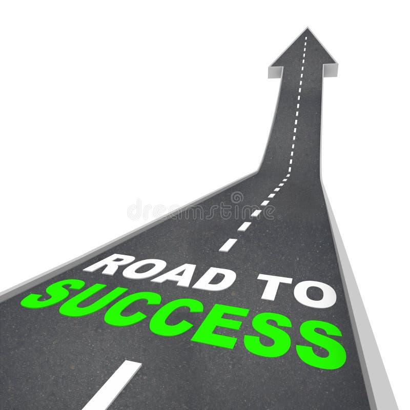 Route à la réussite - vers le haut de la flèche illustration stock