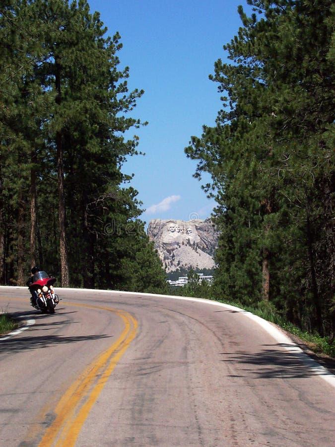 Route à Mt. Rushmore photos libres de droits