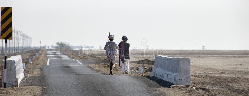 Route à Nada Bet Indo-Pak Border Zero Line images libres de droits