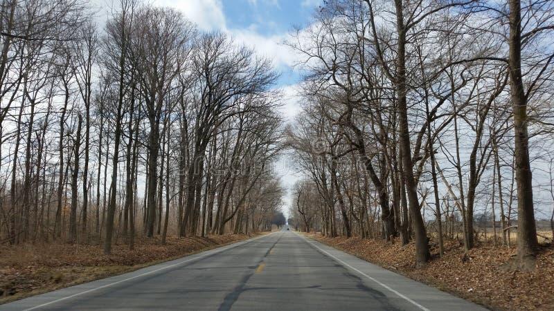 Route à nulle part photo libre de droits