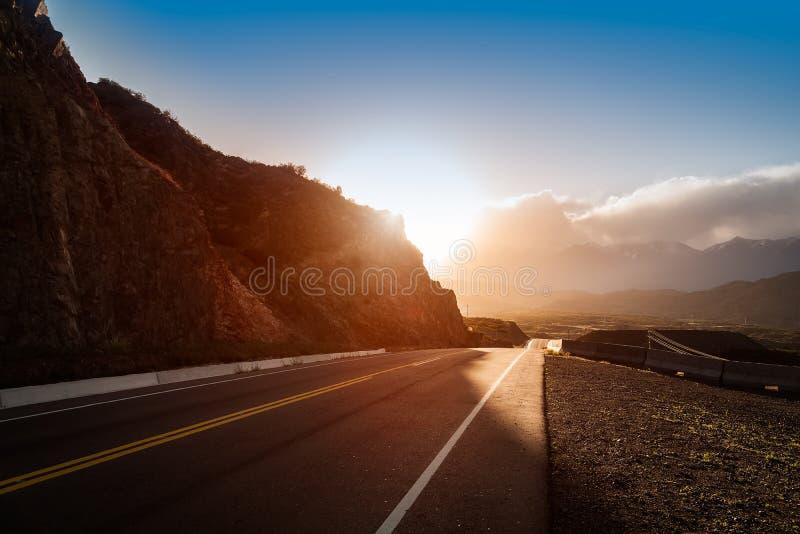 Route à Potrerillos images stock