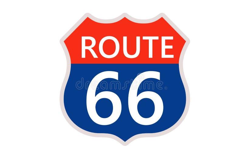 route 66 stock illustrationer