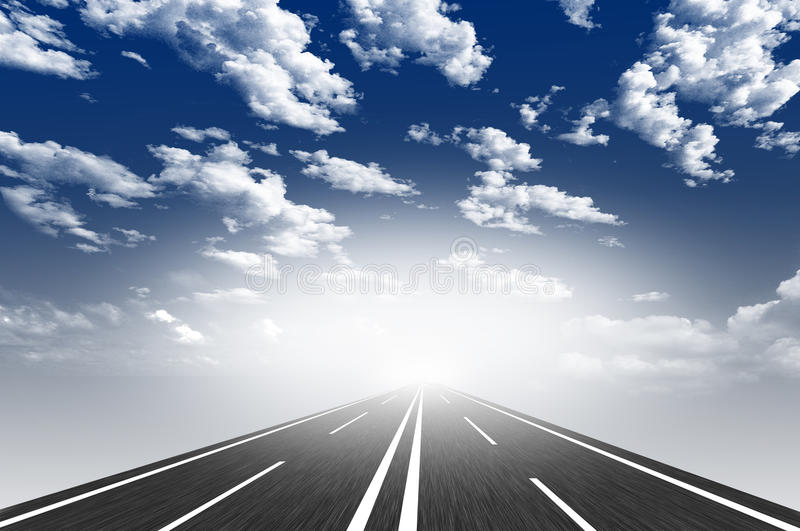 Route illustration stock