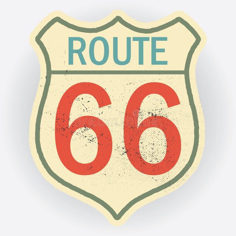 route 66 royaltyfri illustrationer