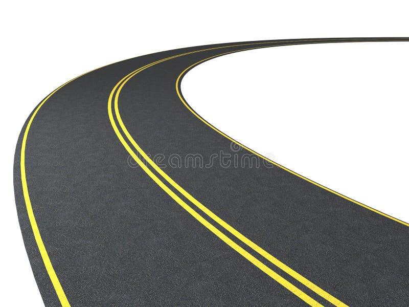 Route illustration de vecteur