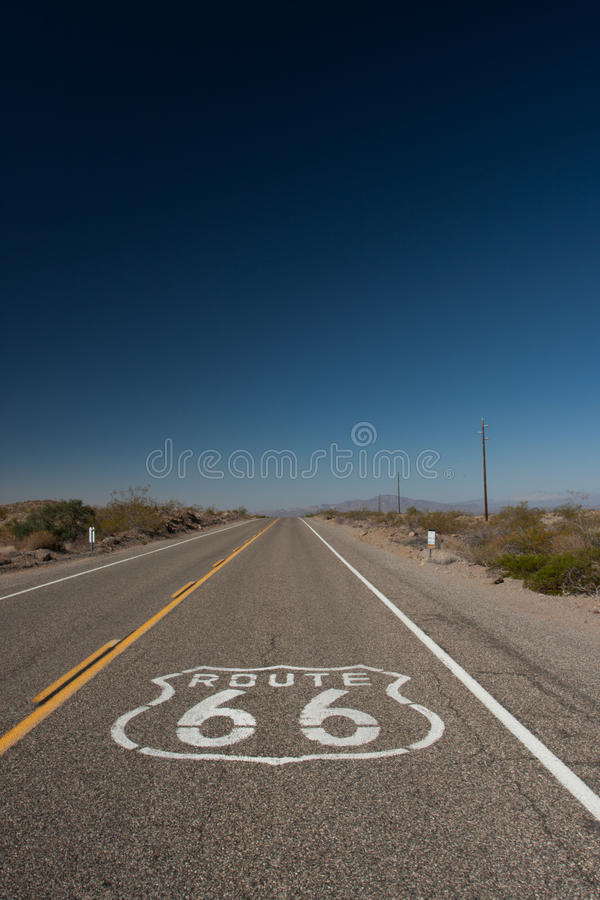Download Route 66 stock image. Image of blue, historic, skies - 16400213