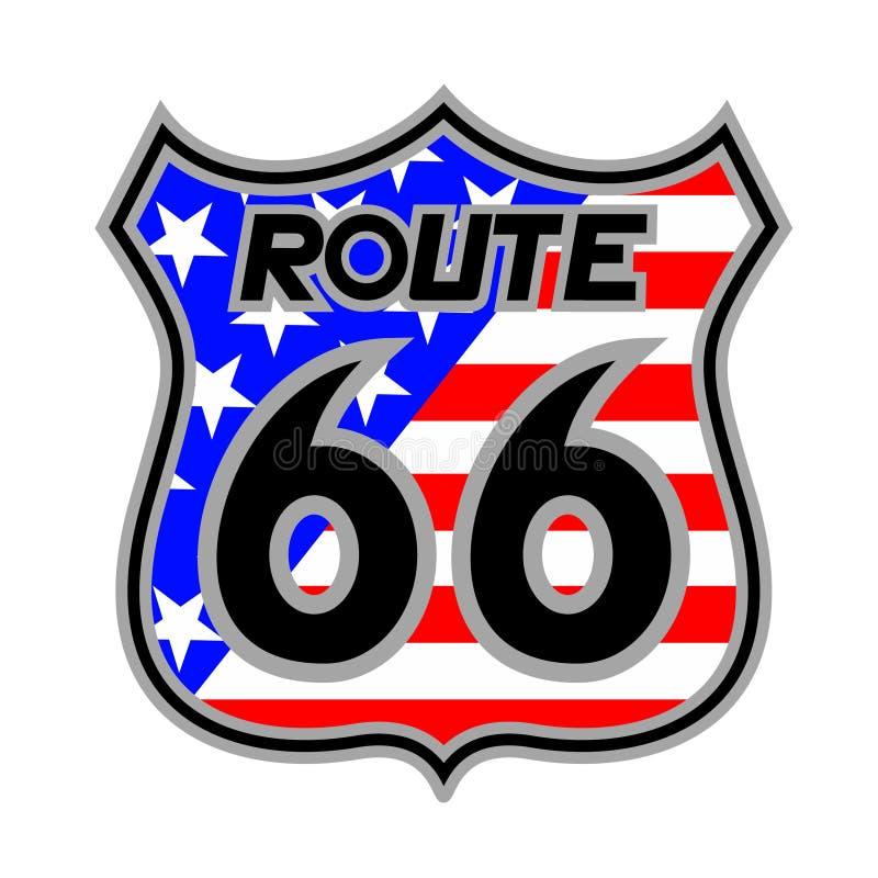 Route 66 stock illustration