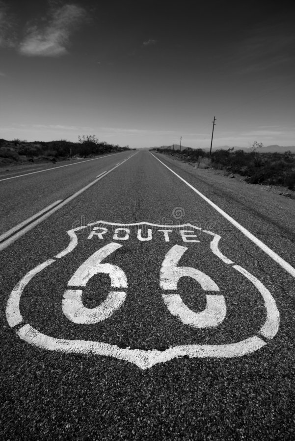 Route 66 Californië stock afbeelding