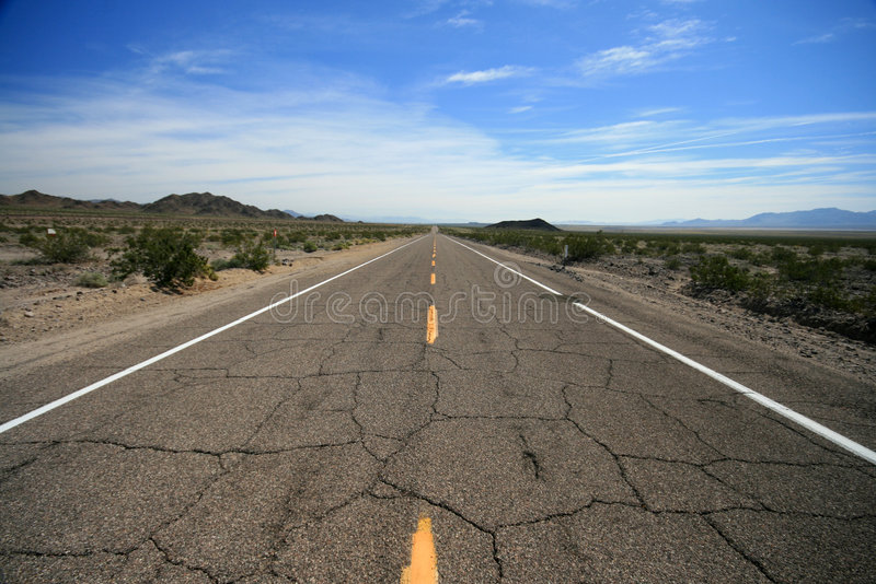 Route 66 desert highway royalty free stock photography