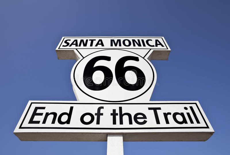 Route 66 End of the Trail in Santa Monica Sign