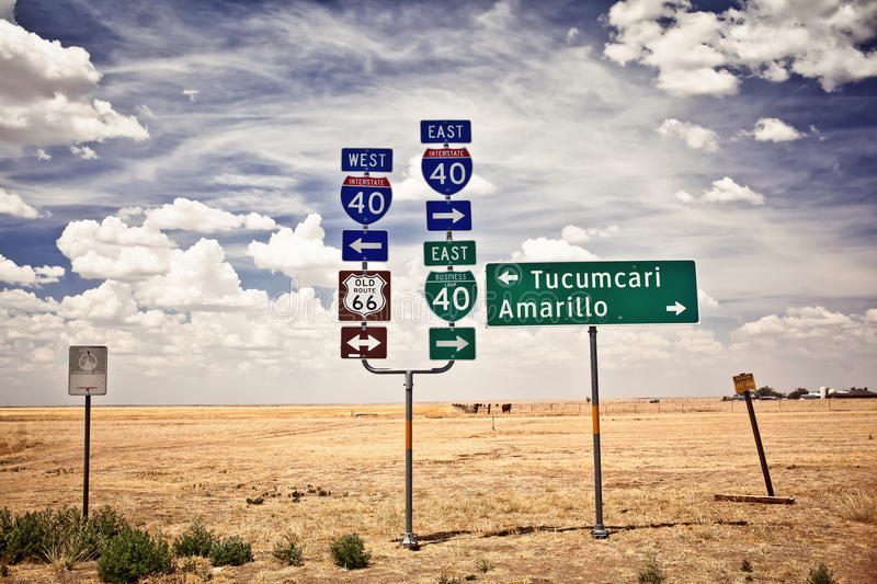 Download Route 66 Intersection Signs Stock Photo - Image: 27242194