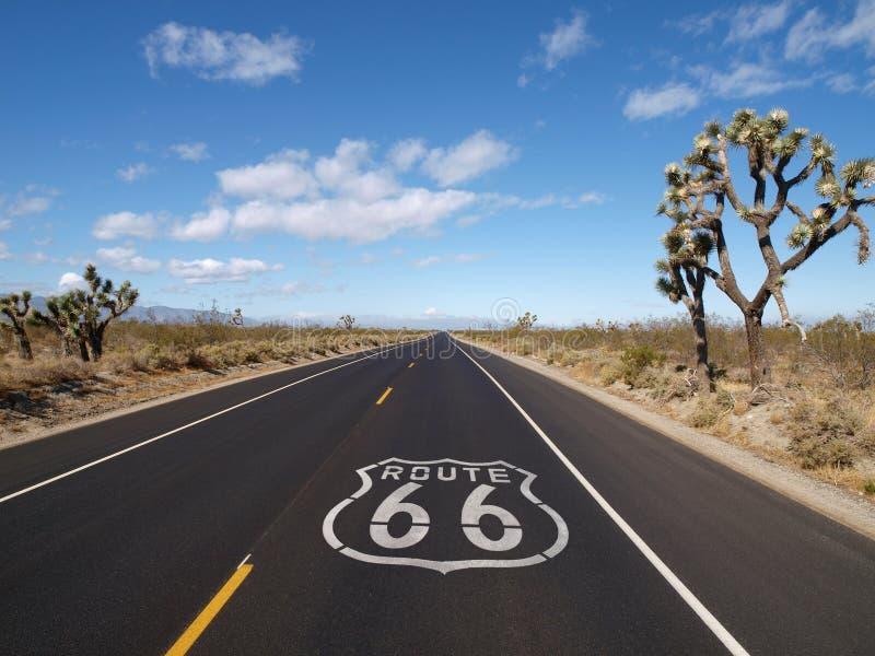 Route 66 Mojave Desert. Route 66 crossing California's Mojave desert stock photos