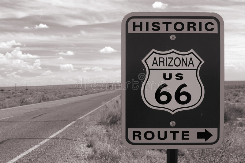 Download Route 66 Road Sign Royalty Free Stock Photo - Image: 1334955
