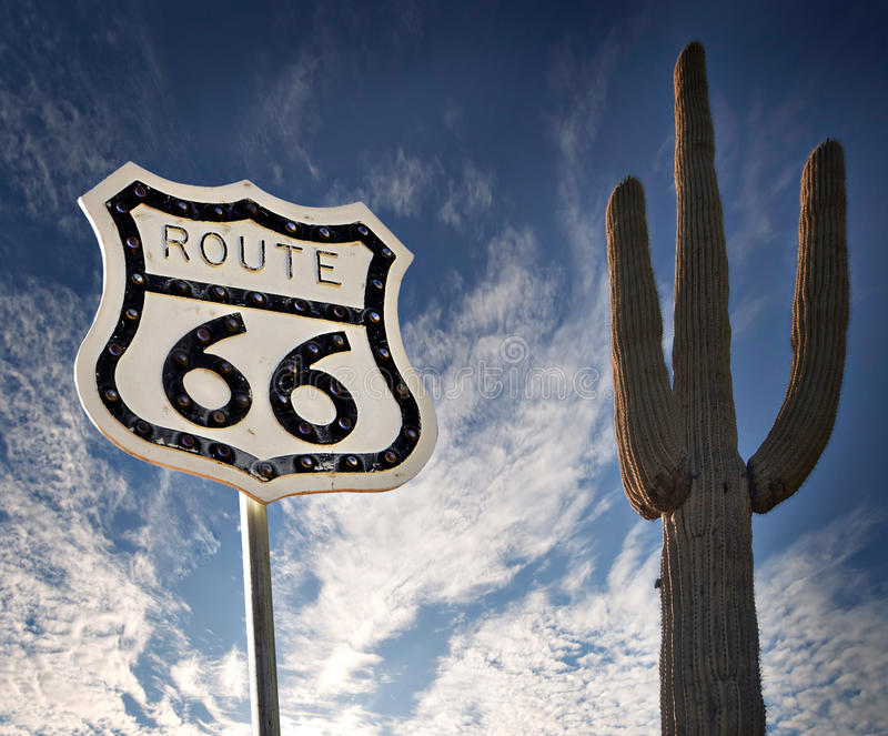 Download Route 66 sign stock photo. Image of arizona, cloud, highway - 17691576