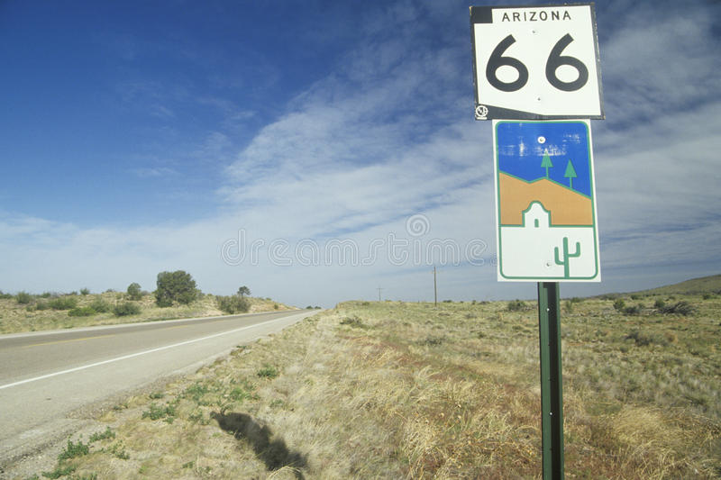 Download A route 66 sign stock image. Image of highways, photography - 26283521