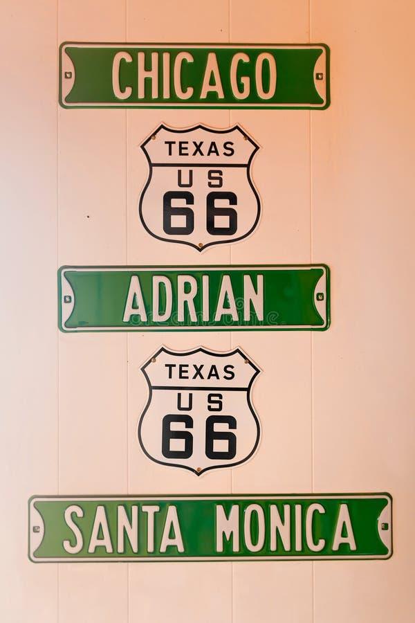 Route 66 tekens royalty-vrije stock afbeelding