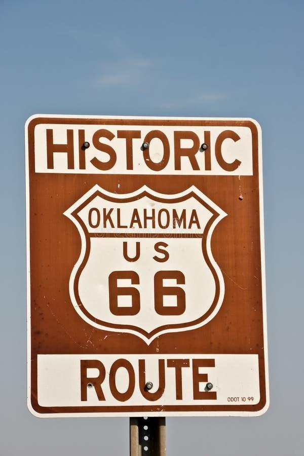Route 66 van Oklahoma Teken stock foto