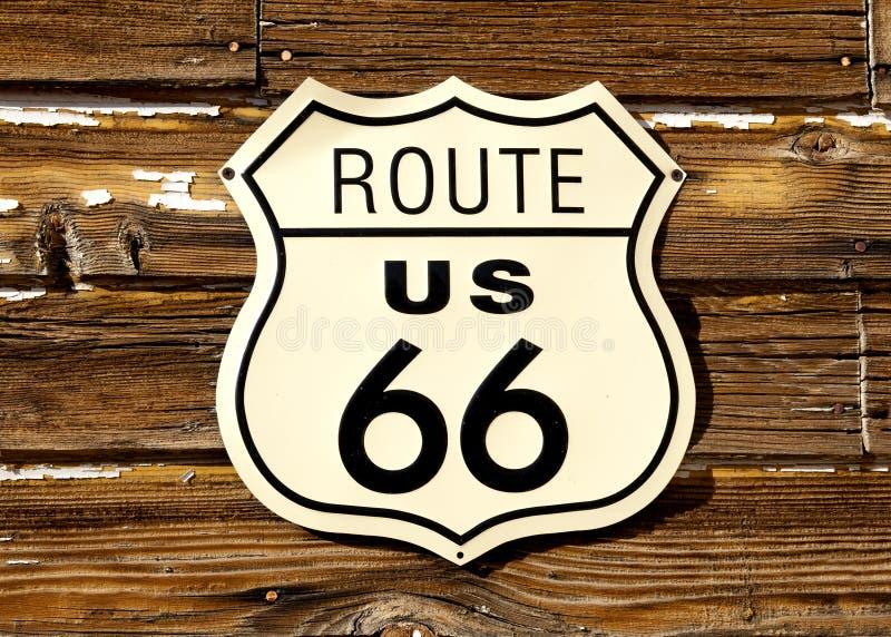 Route 66 verkeersteken stock foto