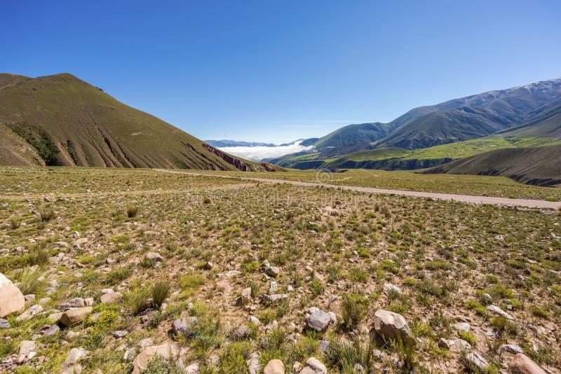 Route 13 aan Iruya in Salta-Provincie, Argentinië stock afbeelding