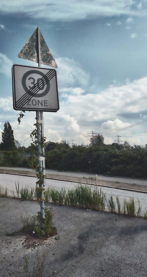 Route abandonnée photographie stock