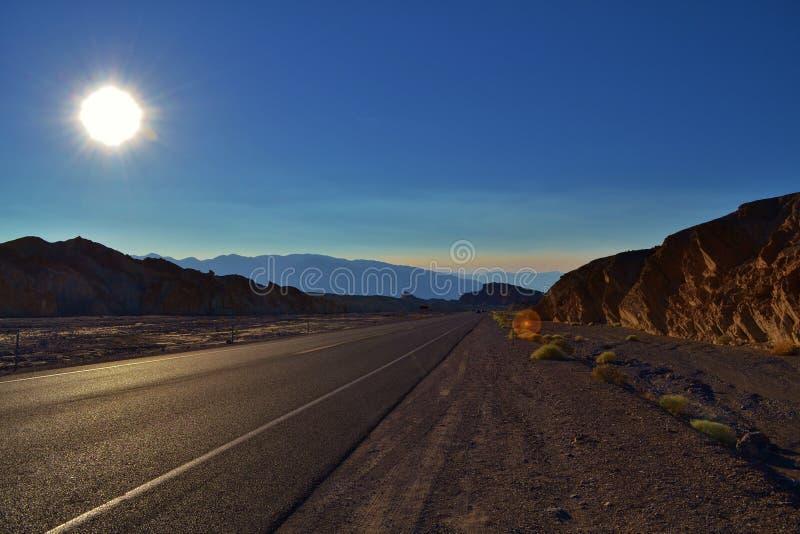 Route abandonnée Death Valley photos stock
