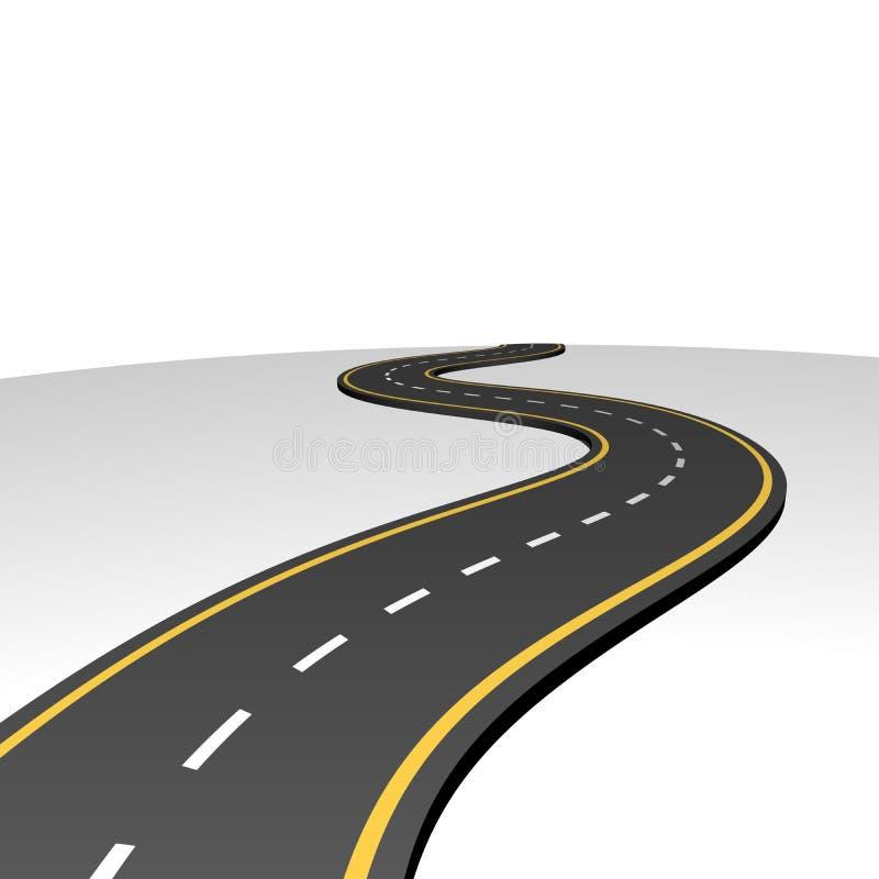 Route abstraite allant à l'horizon illustration de vecteur