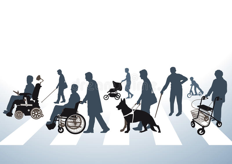 Route accessible illustration libre de droits