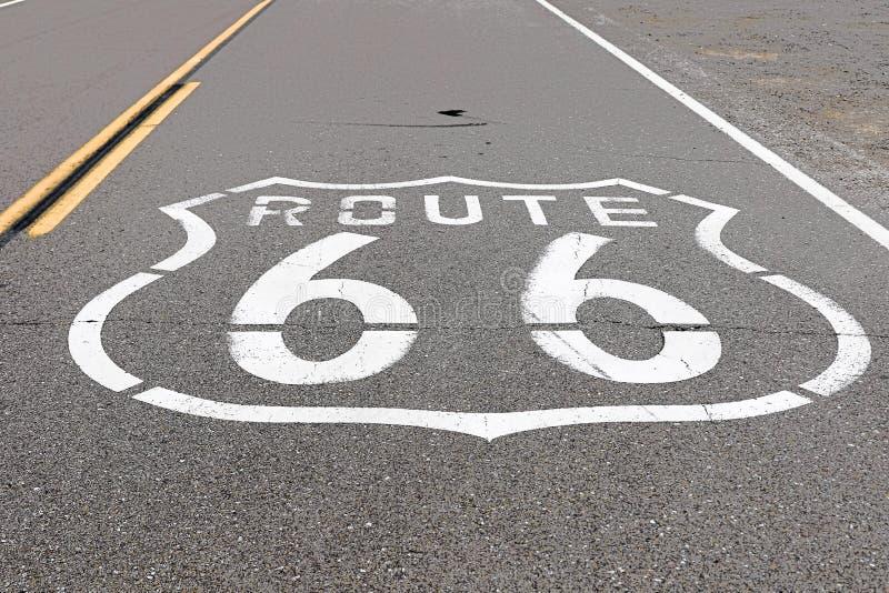 Route américaine Route 66 de mère photo stock