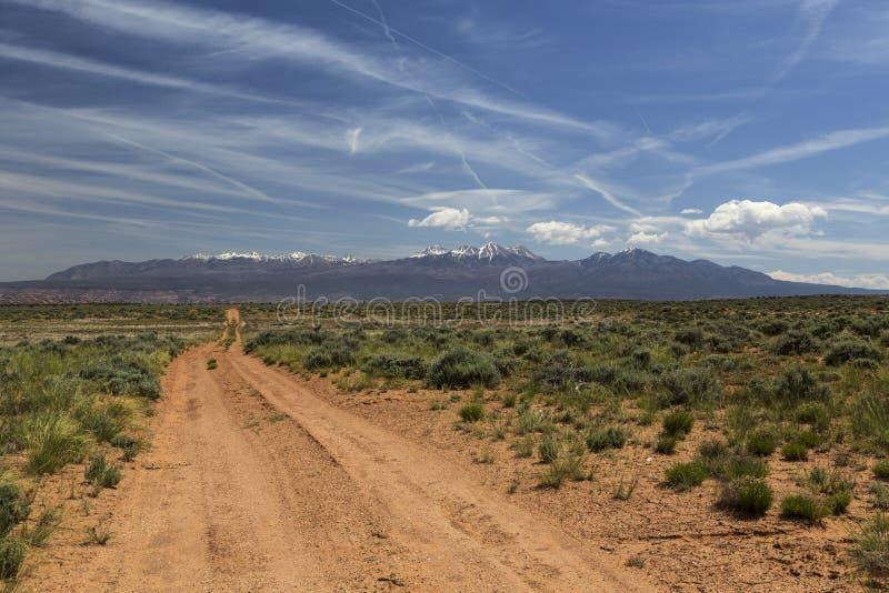 Route arrière vers Moab Utah images libres de droits