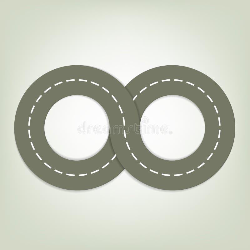 Route asphaltée illustration de vecteur