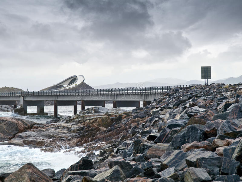 Route atlantique photo libre de droits