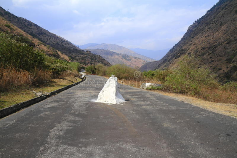 Route au Bhutan image stock
