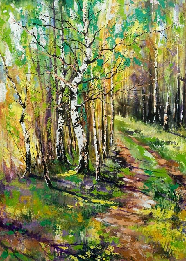 Route au bois d'automne