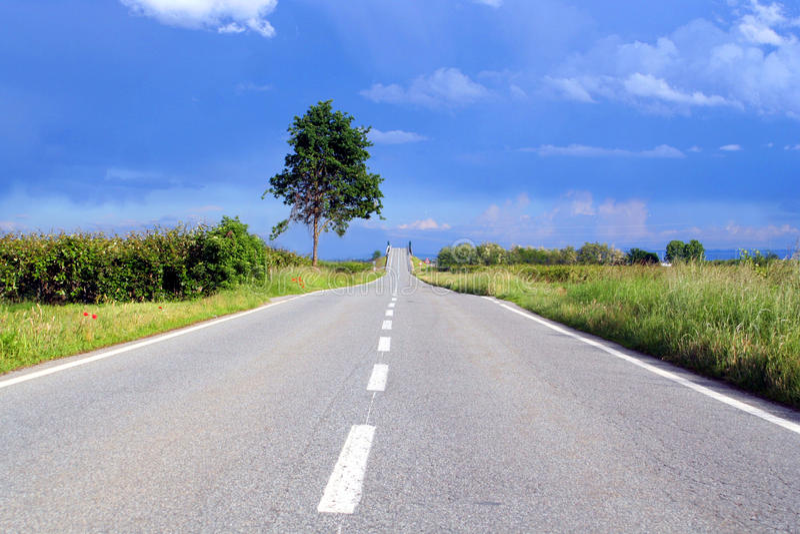 Route au ciel photo stock