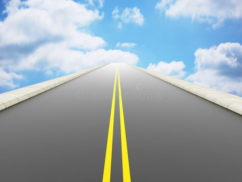Route au ciel illustration libre de droits