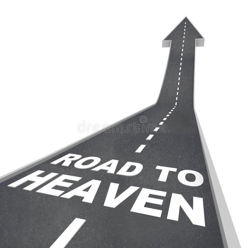 Route au ciel - mots sur la rue illustration de vecteur