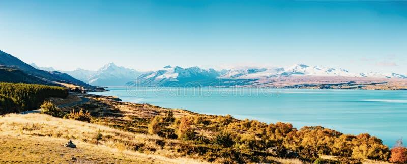 Route au cuisinier de Mt, la plus haute montagne au Nouvelle-Zélande photos libres de droits