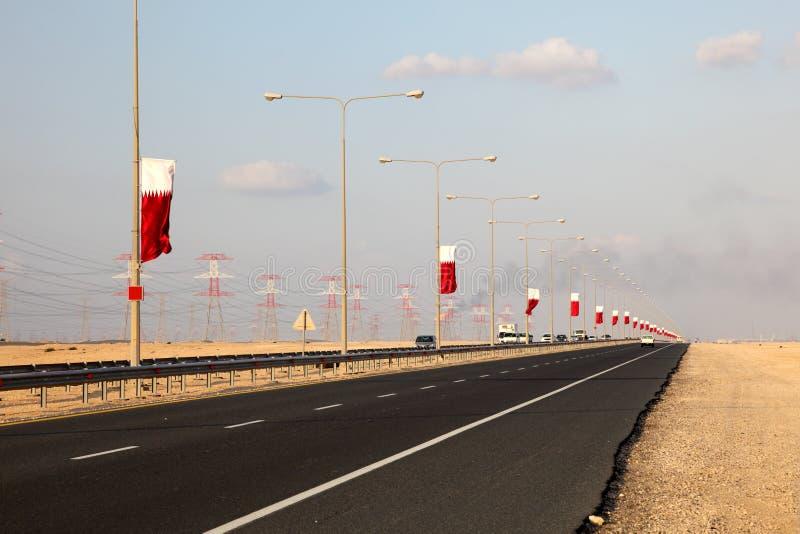 Route au Qatar, Moyen-Orient image libre de droits