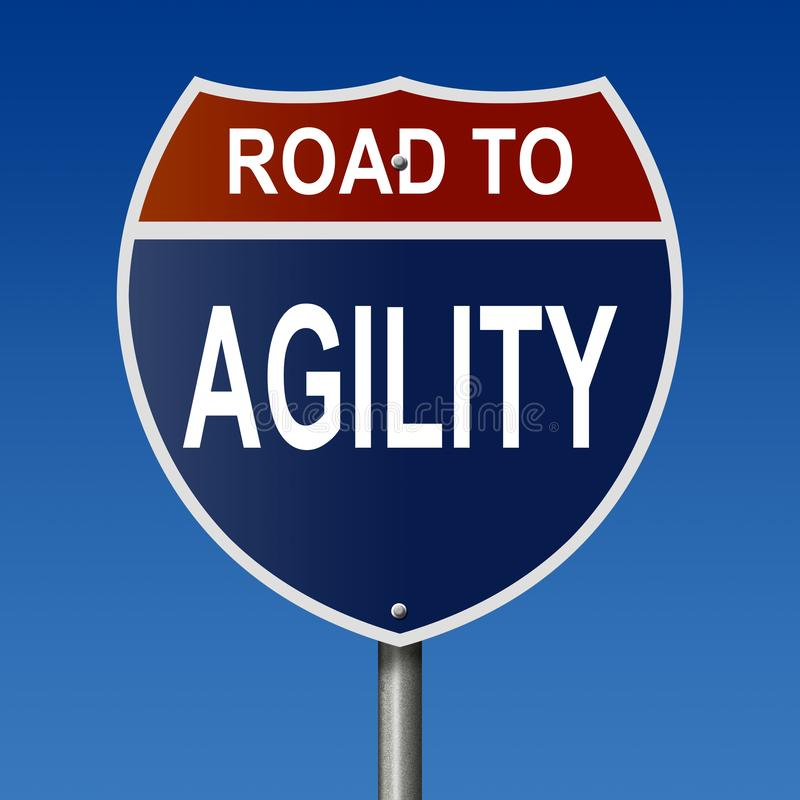 Route au signe d'agilité illustration stock