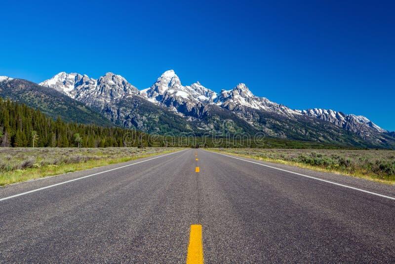 Route au Tetons photographie stock libre de droits