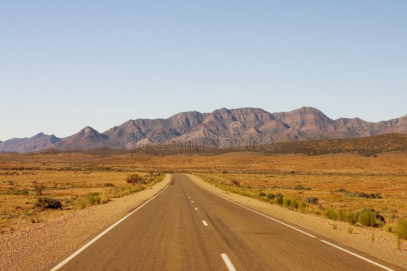 Route australienne image stock