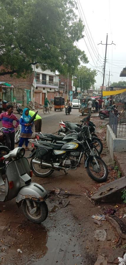Route Bahraich Uttar Pradesh de l'Inde images libres de droits