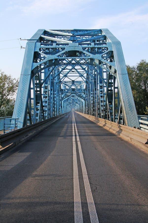 Route through bridge stock photo