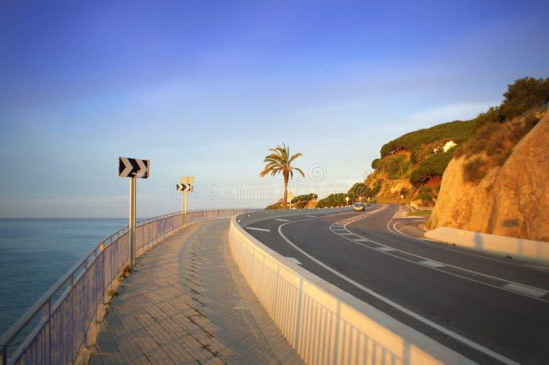 Route côtière scénique, Espagne photographie stock