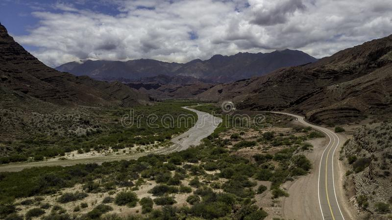 Route 68. Cafayate heading for Salta. Argentina royalty free stock photography