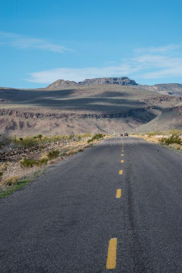 Route 66 in Californië royalty-vrije stock afbeelding