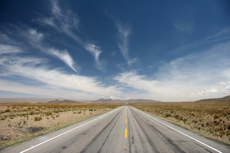 Route d'Altiplano image libre de droits